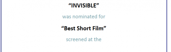 """Invisible"" nominated for Best Short Film at Marbella International Film Festival"