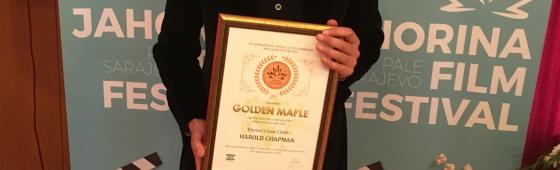 "Harry Chapman picks up the ""Golden Maple"" at Jahorina Film Festival"